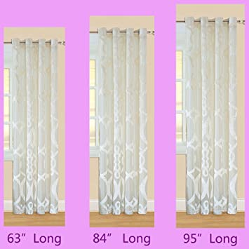 Sheer Curtains 63 sheer curtains : Amazon.com : Non Toxic 63 inch Long Sheer Curtains 1 Panel Drapery ...