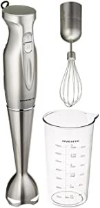 Ovente HS583S Stainless Steel Immersion Hand Blender Set, Silver, without Chopper
