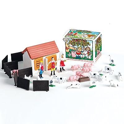 House of Marbles Teeny Tiny Mini Farm Playset: Toys & Games