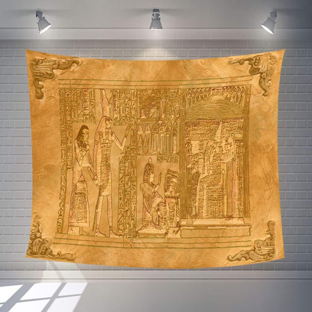 ZNKZJ Tapiz Fara/ón Egipcio Rey,Tapicer/ía de Tela de impresi/ón de Pintura Antigua Colgante de Pared Decoraci/ón para el hogar Tapices de Pared de pir/ámide Ropa de Cama Yoga Mat Throw,A-130 X 150CM