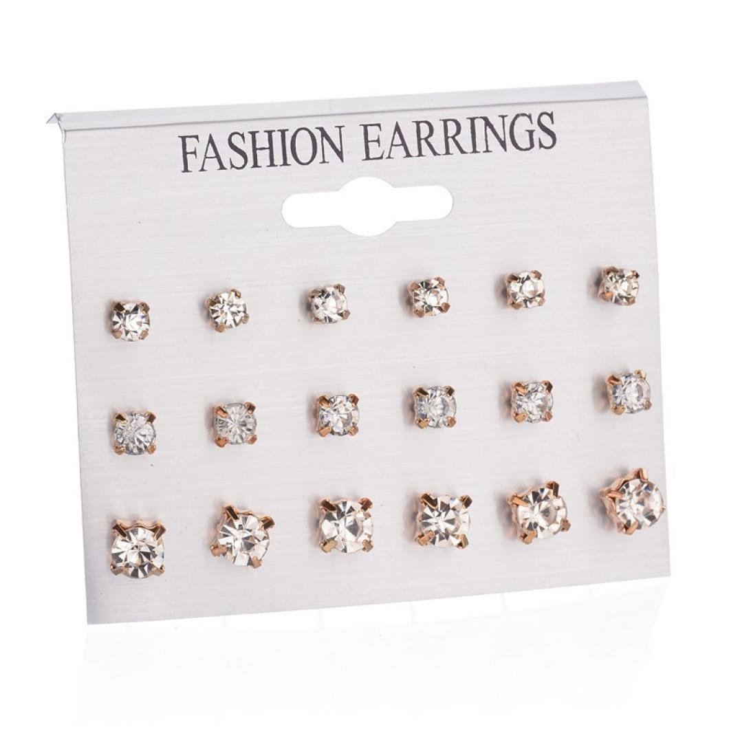 Fashion Simple Women Big Round Hoop Earrings Sets Combination Hypoallergenic Ear Stud Earrings for Girls Special,12 Pairs