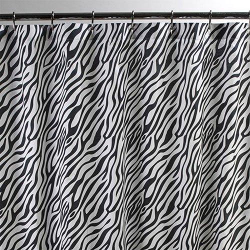 Sin in Linen Black Zebra Shower Curtain