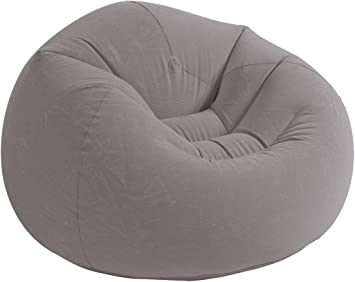 Amazon Com Skroutz Chair Bean Bag Inflatable Furniture Contoured Corduroy Beanless Lounge Chair Home Dorm Bedroom Gaming Relaxing Reading Grey House Deals Furniture Decor