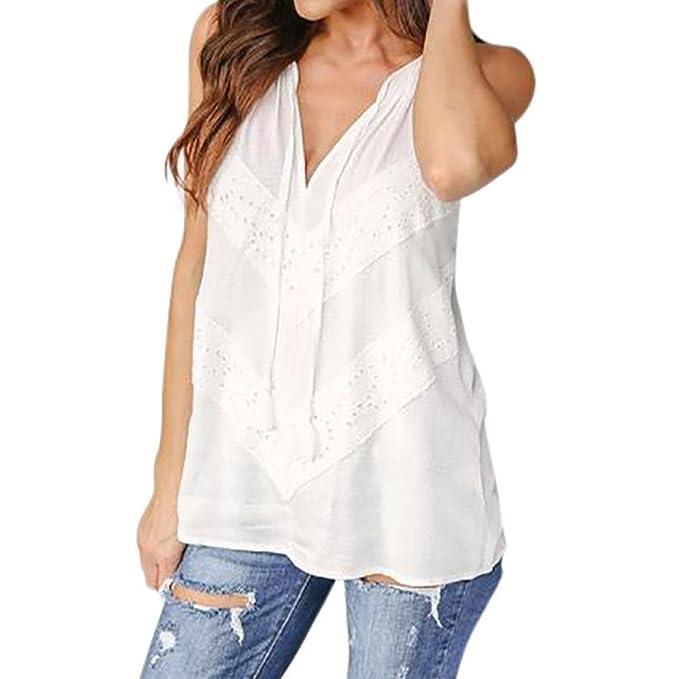 be2f9bf736 Cinnamou Camisetas Sin Mangas para Mujeres Chicas Jóvenes
