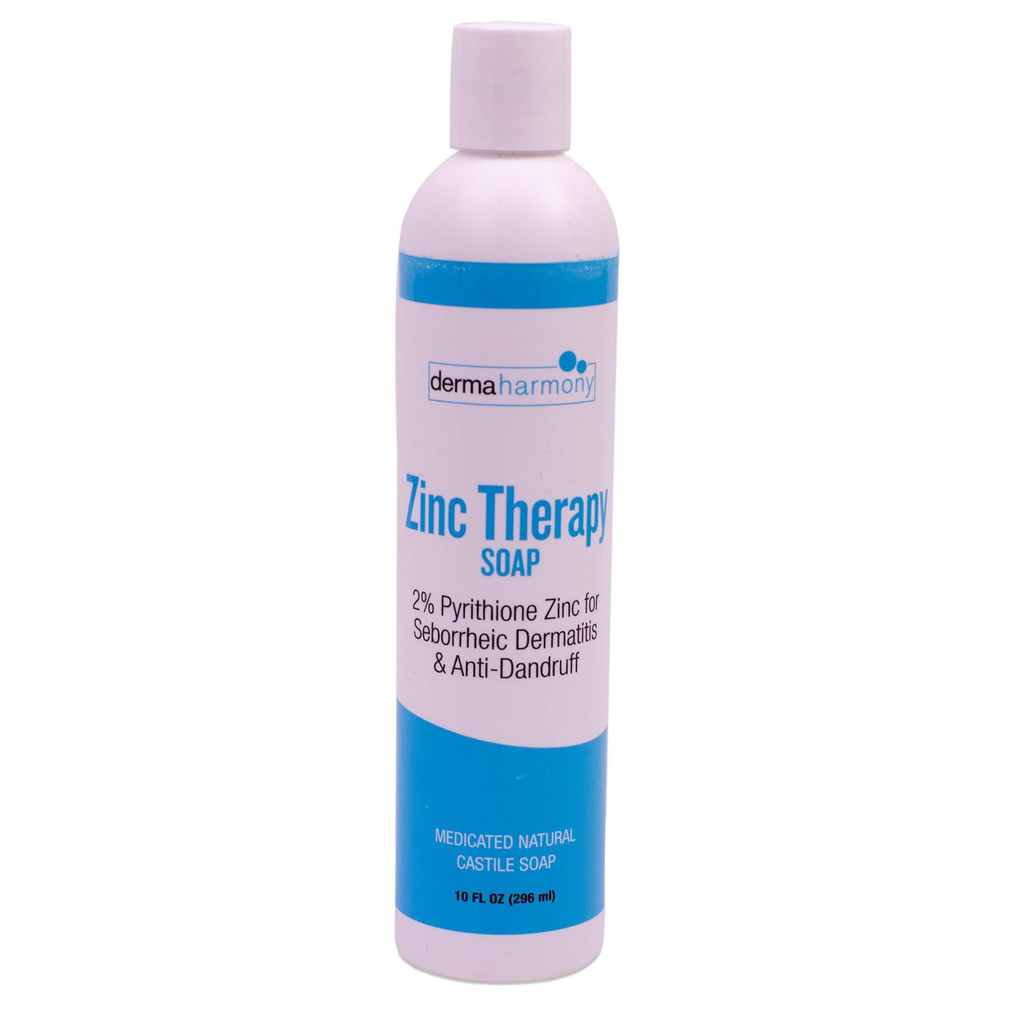 DermaHarmony 2% Pyrithione Zinc (ZnP) Liquid Castile Soap (10 Fl Oz Bottle)