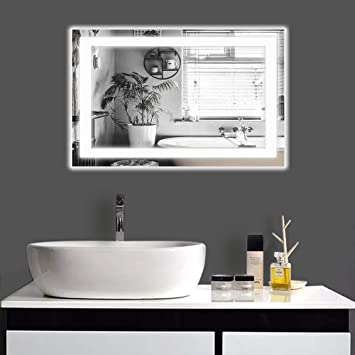 Amazon Com Mimirrors Bathroom Mirrors With Led Lights Fog Free Wall