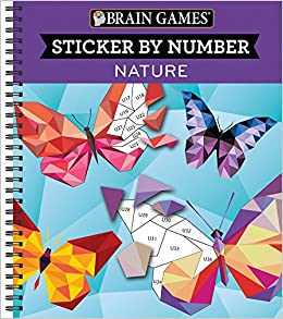 Brain Games Color By Stickers Nature Amazon Co Uk Ltd