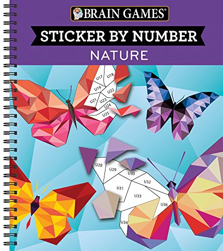 Brain Games® Sticker by Number: Nature