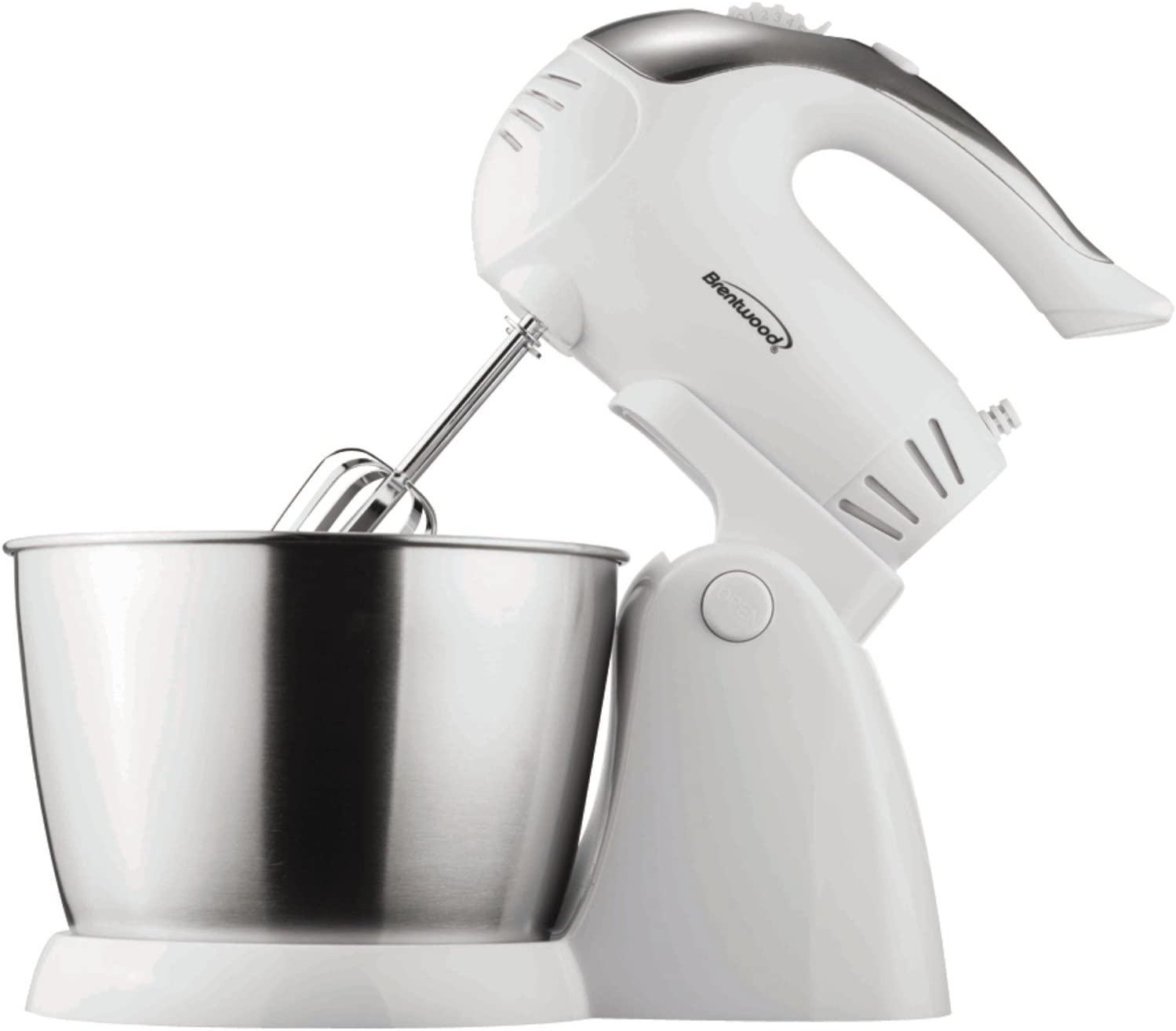Brentwood SM-1152 Stand Mixer, 5-Speed + Turbo, White