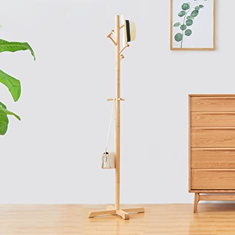 Amazon.com: GFLYM - Perchero de madera maciza para ...