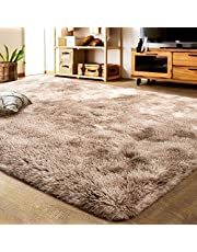 LOCHAS Super Soft Living Room Rug, Girls Bedroom Mat Area Rugs Home Decor Kids Room Oval Shaggy Carpet, 80 X 160cm(Grey)
