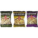 Koyo Vegan Organic Noodle Ramen 3 Flavor 9 Bag Variety Bundle: (3) Garlic Pepper, (3) Lemongrass Ginger, and (3) Mushroom, 2-