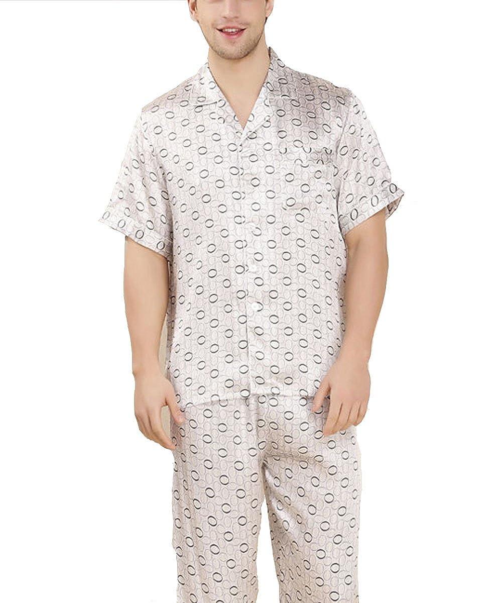 binzoo - Pijama - para hombre Plateado plata Large: Amazon.es: Ropa y accesorios