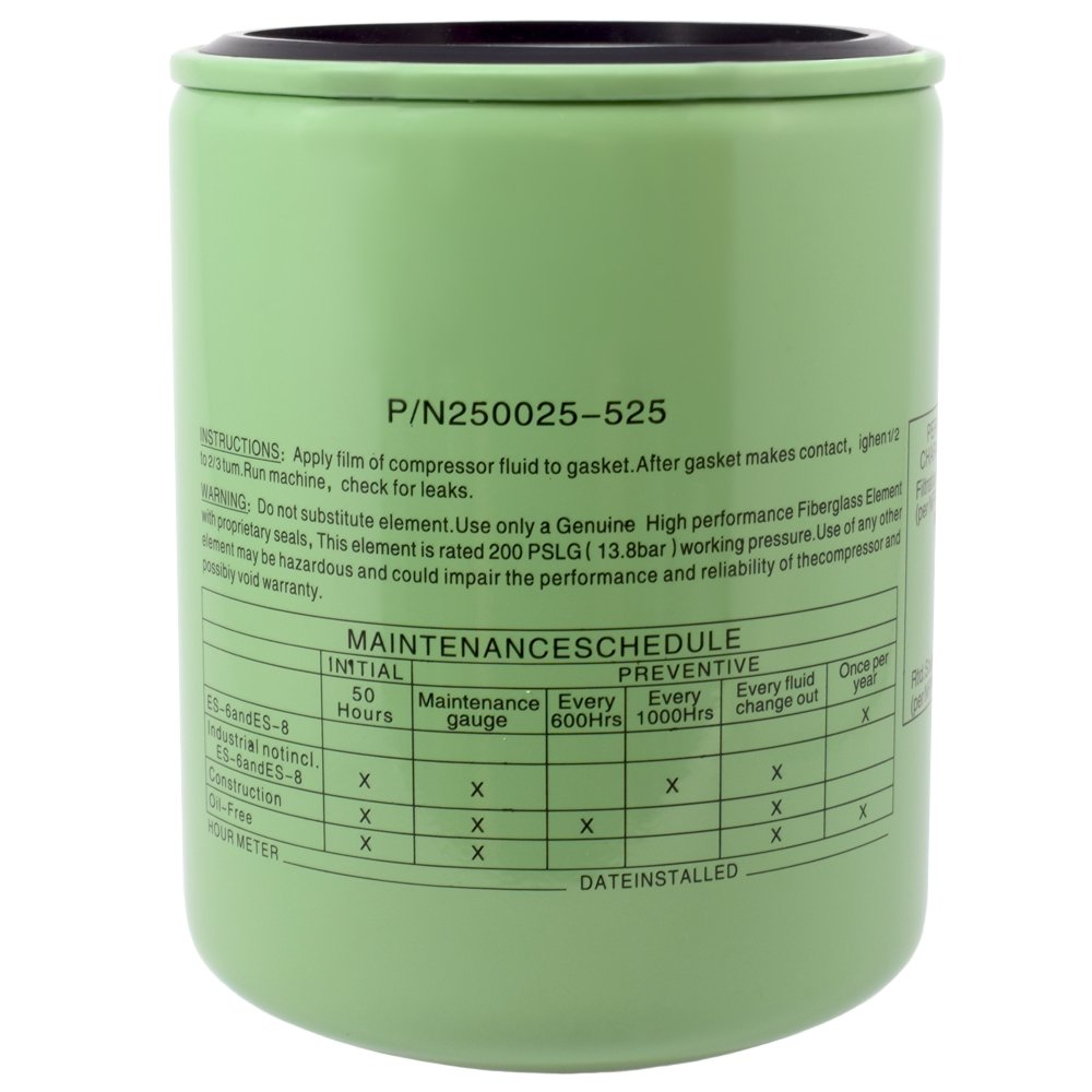 250025-525 Sullair Oil Filter Element Replacement by Compressor Freaks, LLC Generic
