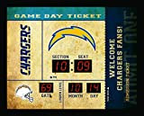 Team Sports America Bluetooth Scoreboard Wall Clock San Diego Chargers, Team Color, 23