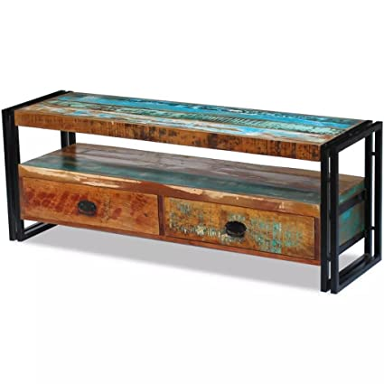 af39af3a0b10 Image Unavailable. Image not available for. Color  BestFurniture Handmade  Vintage Style Solid Reclaimed Wood Media Console TV Stand Unit Entertainment  ...
