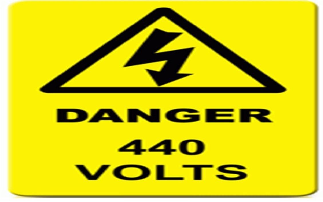 Danger 440 Volt sticker (Warning signage): Amazon in