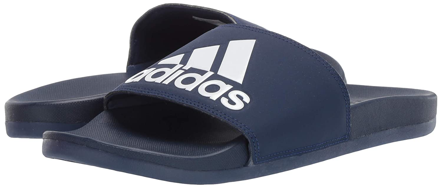 171d798a adidas Men's Adilette Cloudfoam Plus Logo Slides: Amazon.ca: Shoes ...