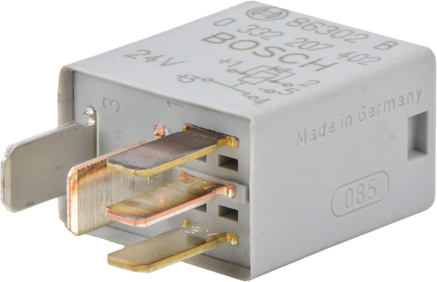 Bosch 0332207402 Micro Relais 24v 10a Ip5k4 Betriebstemperatur Von 40 Bis 100 Wechselrelais 5 Pin Relais Mit Diode Auto
