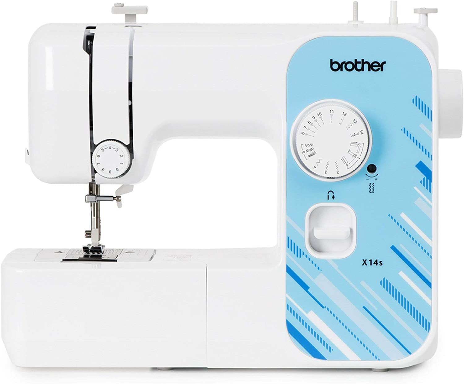 Brother X14S - Máquina de coser eléctrica, color blanco, normal
