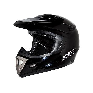 ZOX Rush Junior Youth motocicleta casco – negro brillante