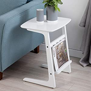Home&Selected Furniture/Side Table Sofa Bed Coffee Tray Couch Console Stand End Tables Desk Room Home Brown White 45 38 45CM (Color : White) (Color : White)