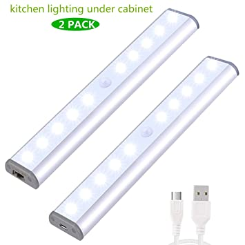 Stick On Anywhere Portable Little Light Wireless LED Under Cabinet Lights  10 LED Motion