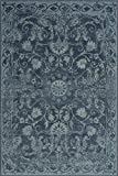 Cheap Blue Traditional Distressed 5 x 7 [ 4′ 11″ X 7′ 5″ ] Area Rug Modern Vintage Transitional Rug Soft Living Dining Room Contemporary Area Rug