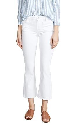 9b6a44b3310ca 7 For All Mankind Women's High Waist Slim Kick Jeans, White Runway, ...