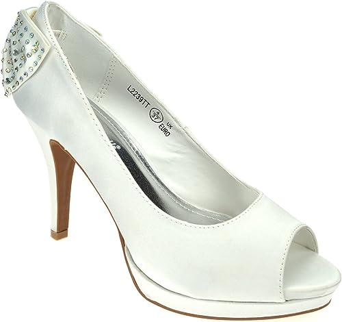 Chic Feet Ladies White Satin Wedding