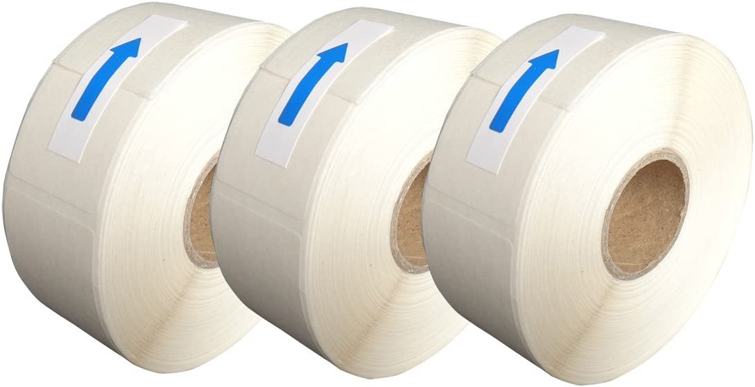 L LIKED Blank White 1 x 2 Inch Dissolvable Labels for Food Rotation Prep roll of 500 (3 Rolls)