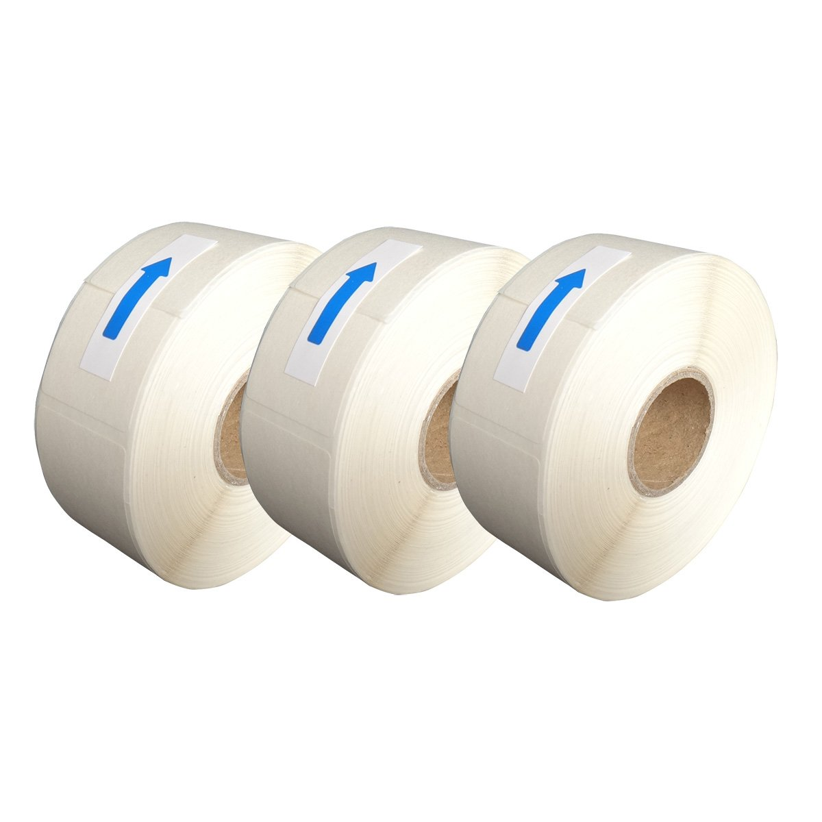 DAYSPOTS Blank White 1 x 2 Inch Dissolvable Labels For Food Rotation Prep roll of 500 (3 Pack)