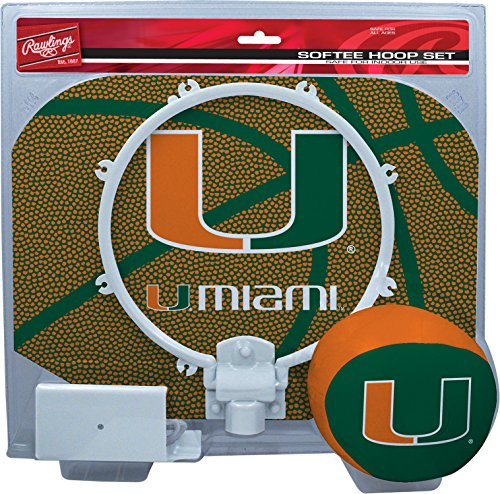 NCAA Miami Hurricanes Kids Slam Dunk Hoop Set, Green, Small