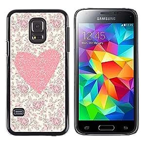 TopCaseStore / la caja del caucho duro de la cubierta de protección de la piel - Floral Flowers Love Girl Spring - Samsung Galaxy S5 Mini, SM-G800, NOT S5 REGULAR!