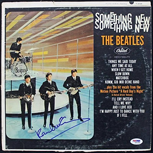 Something Album (Paul Mccartney The Beatles Something New Signed Album Cover W/ Vinyl #S04248 - PSA/DNA Certified)