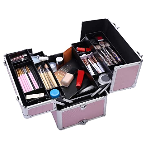 Amazon.com: HOBBYN Maquillaje Train Case Trolley Grande ...