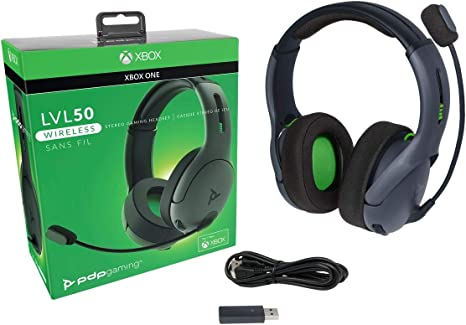 PDP - Auricular Stereo Gaming LVL50 Wireless, Gris (Xbox One ...