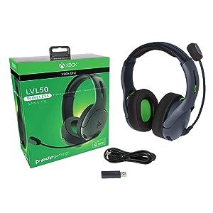 PDP 048-025-NA-BK Xbox One LVL50 Wireless Stereo Gaming Headset for Xbox One, 048-025-NA-BK
