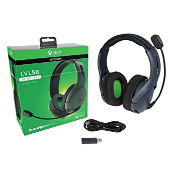 Amazon Com Pdp 048 025 Na Bk Xbox One Lvl50 Wireless Stereo Gaming Headset For Xbox One 048 025 Na Bk Video Games