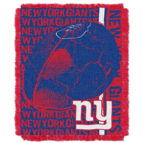 The Northwest Company Officially Licensed NFL New York Giants Double Play Jacquard Throw Blanket, 48