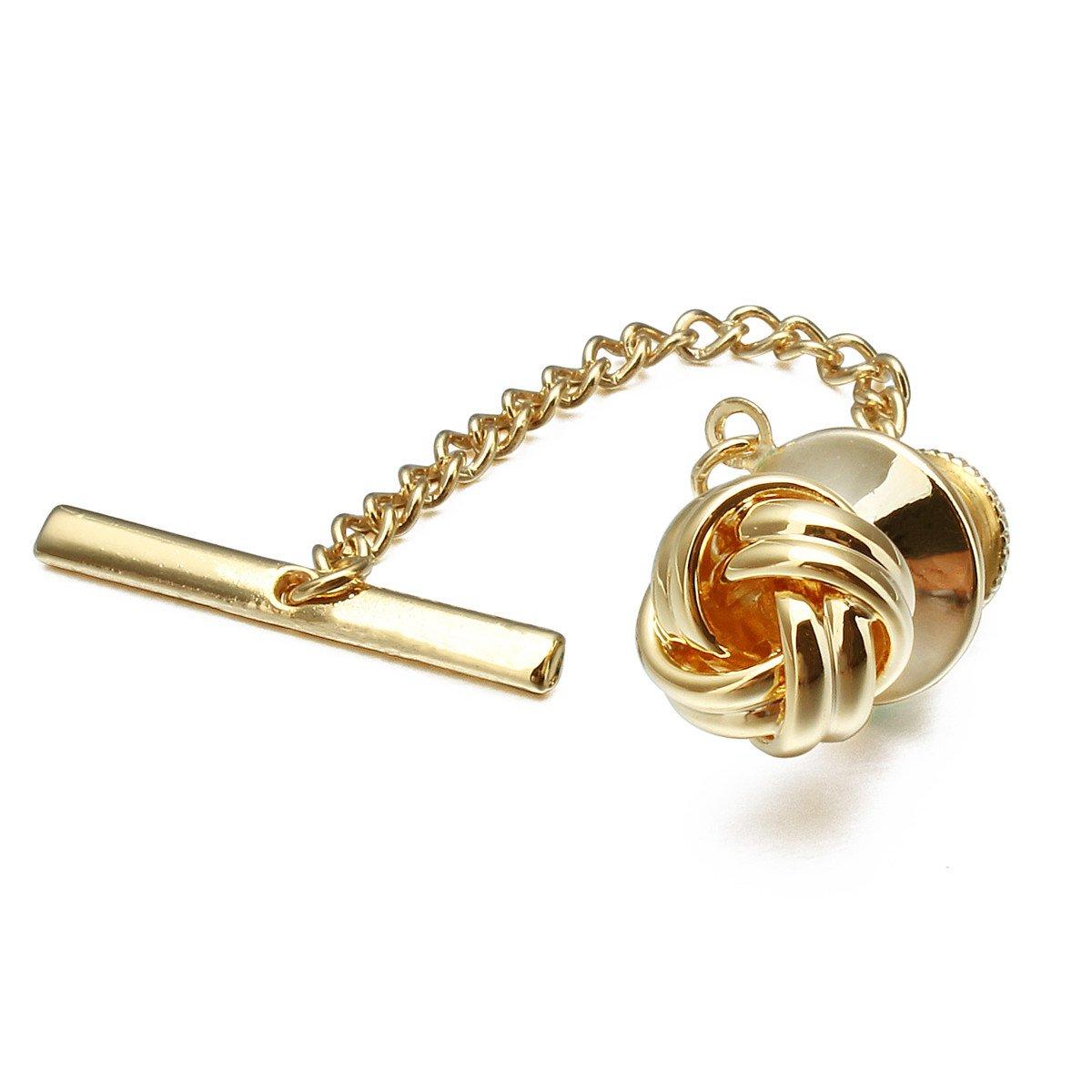 101d978b2ac1 Amazon.com: HAWSON Sailor Knot Tie Tack for Men Metal Tie Pin Gold: Jewelry