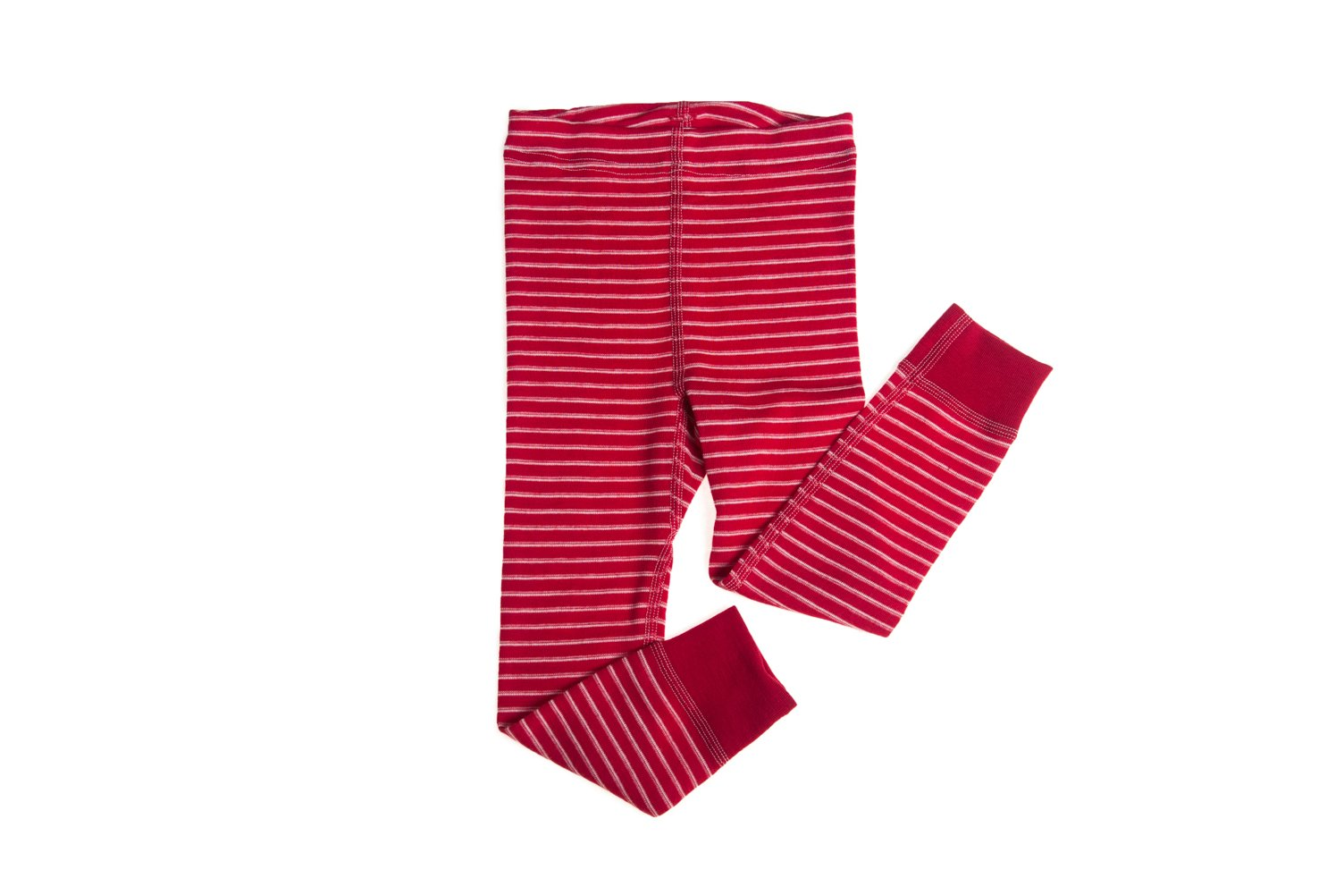Hocosa of Switzerland Big Boys Organic Wool Long-Underwear Pants, Red/White Stripe, s. 164/14 Yr by Hocosa of Switzerland