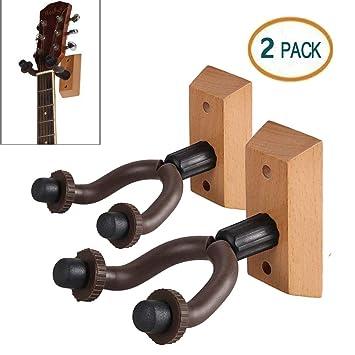 Lujoso soporte de pared para guitarra de madera dura, para casa y estudio, soporte