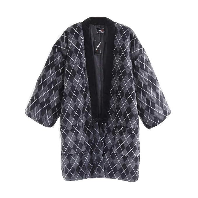Fancy Pumpkin Chaqueta Abrigada Chaleco japonés Unisex Kimono Espesar Chaleco Ropa # 03: Amazon.es: Ropa y accesorios