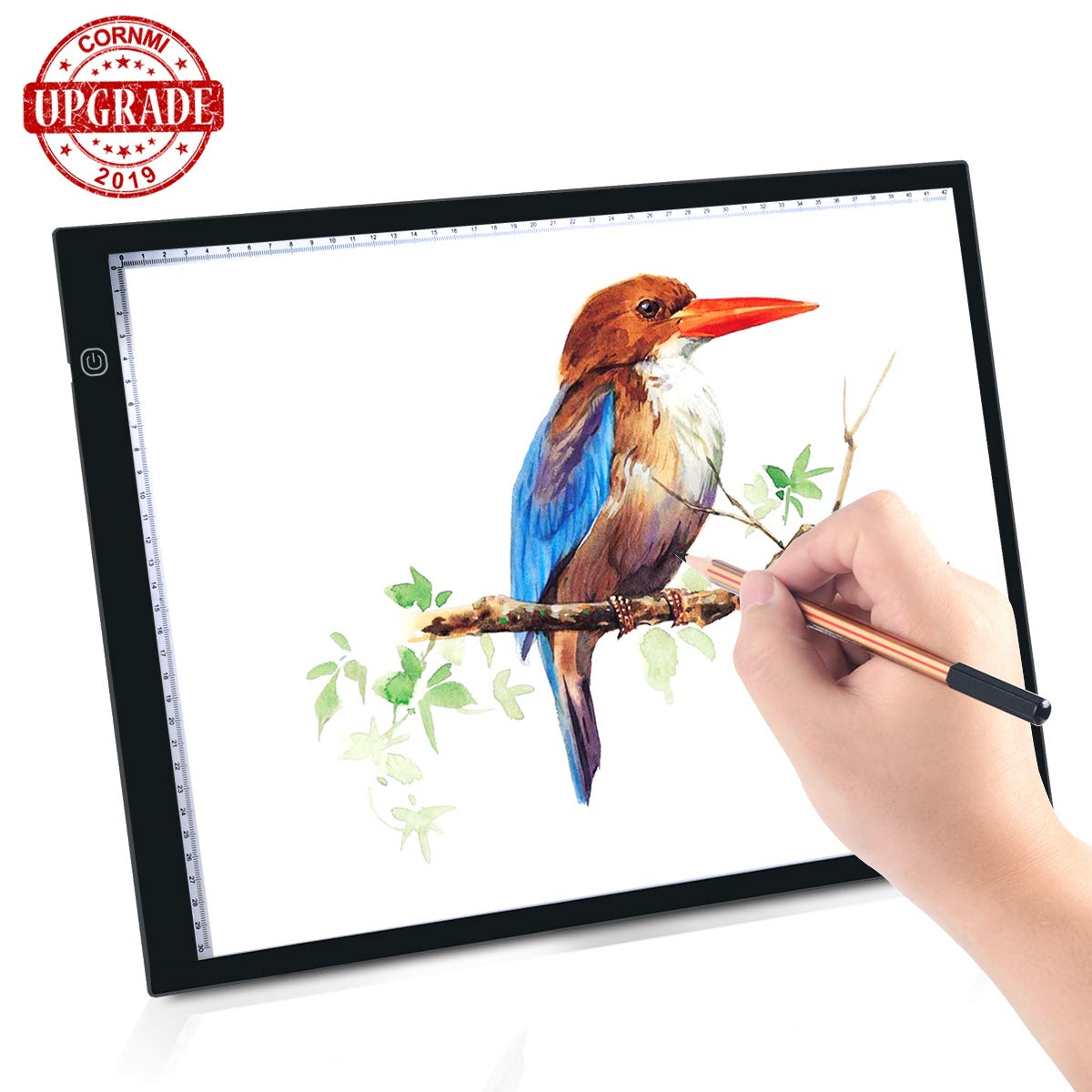 Large A3 LED Light Box Tracing Board, 23'' Light Drawing Pad Diamond Painting 10 Dimmable Brightness Adjustable for Artists Sketching Animation Stencilling X-rayViewing USB Cable, Upgrade Design