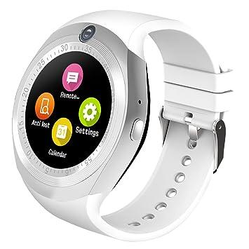 2d7d013c4 Kivors Bluetooth Smartwatch, Classic Ronda de IPS Pantalla Táctil Reloj  Inteligente con Tarjeta SIM y