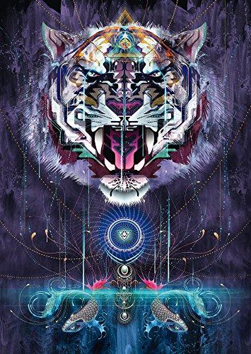 SCHMIDT Snarling Tiger Puzzle (1000-Piece)