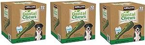 Kirkland Signature Dental Chews Dog Treats, 216 Count