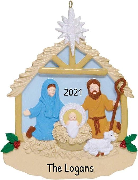 Nativity Christmas 2020 Amazon.com: Personalized Nativity Christmas Tree Ornament 2020