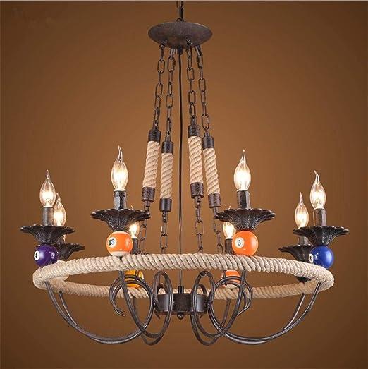 DHG Iluminación Interior Lámparas de araña Vintage Industrial ...